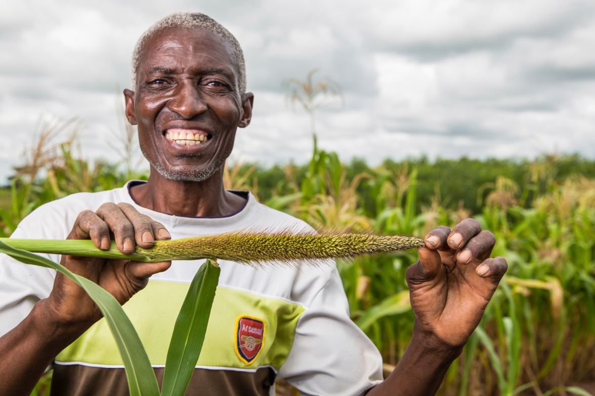 Smallholder farmer in Zambia supplying CHC commodities