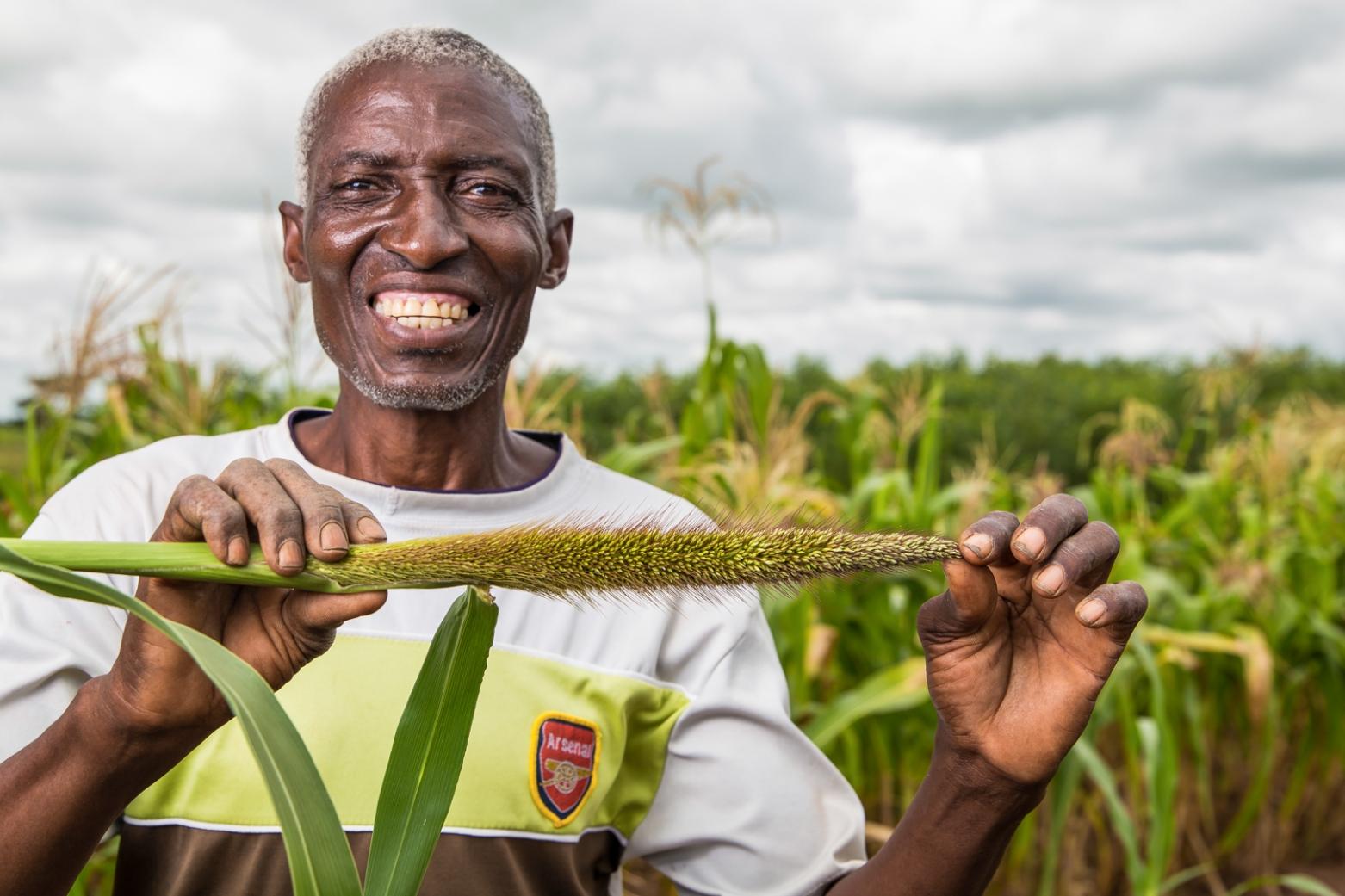 Smallholder farmer in Zambia supplying CHC commodities